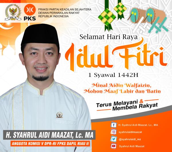 Syahrul Aidi Maazat - Ucapan Idul Fitri 1442 H