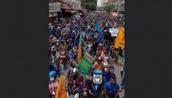 Aksi Buruh Kota Medan: DPR Sedang Sakit Kawan-Kawan..!