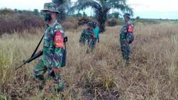 Babinsa Bagansinembah Rohul Tetap Patroli Karhutla Ditengah Pandemi Corona Virus