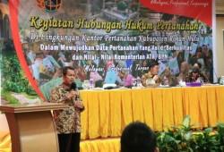 Bantu Legalitas Lahan Warga, Pjs Bupati Rohul Dukung Percepatan Program PTSL PM 2021