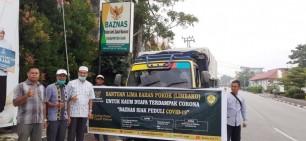 Bantu Penanganan Virus Covid-19, Baznas Siak Bagikan 4.750 Paket Sembako
