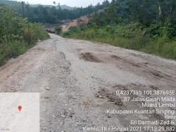 Berdalih Galian C di Kuansing Belum Ada Yang Berizin, PT SUN Belum Perbaiki Jalan Sungai Bawang