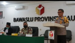 Buka Rakor Sentra Gakkumdu Se-Riau, Kapolda Riau Dukung Keputusan Bawaslu