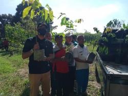 Camat Tambang Bersihkan Kantor Desa Gobah Dan Tanam Pohon di Pemakaman Umum