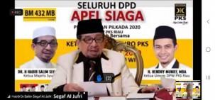 Habib Salim Assegaf Beri Motivasi Cakada PKS di Riau, Berikut Pesannya..
