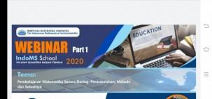 Himpunan Matematika Indonesia (IndoMS) Wilayah Sumbagteng Gelar Webinar