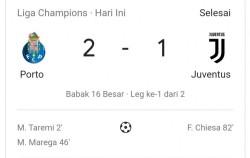 Jelang Perempatfinal Liga Champions Porto Taklukkan Juventus Dengan Skor 1-2