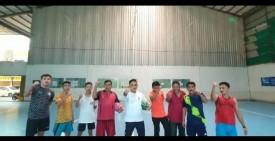 Keluarga Besar Kecamatan Binawidya Canangkan Olahraga Bersama Setiap Sore