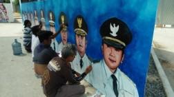 Lukisan Wajah 10 Gubernur Jadi Objek Menarik Berswafoto di Lampung Elephant Park