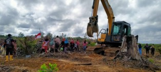Masyarakat Rantau Kasih Mengungsi ke Lahan Konflik, KNPI Kampar Keluarka Pernyataan Sikap