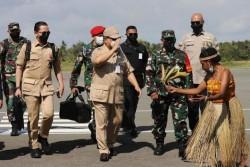 Menhan Prabowo Tinjau Kesiapan RS Modular untuk PON di Merauke Yang Akan Diresmikan Presiden