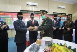 Pemkab Siak - Dandim 0303 Bengkalis Laksanakan Upacara Virtual HUT Ke-75 TNI AD Bersama Presiden RI
