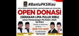 PKS Riau Buka Donasi Galibu Untuk Pemenangan Pilkada 2020
