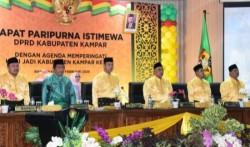 Rapat Paripurna Istimewa HUT Kab. Kampar ke-70 Oleh DPRD Kampar Berlangsung Khidmat