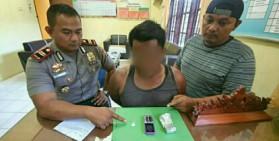 Simpan Sabu di Box Motor, Pria Asal Bandung Ditangkap Polsek Kerumutan