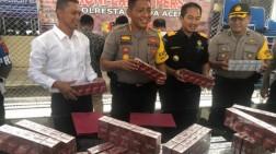 Tidak Miliki Izin, Rokok Bernilai 17 Juta di Sita Polresta Banda Aceh