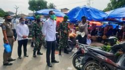 Upika Kecamatan Tambang Razia Masker di Pasar Terantang, Warga Terjaring Diberi Sanksi Sosial