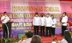 Wako Rudi Dampingi Menko Luhut Binsar Resmikan Pabrik Pengolahan Limbah di Barelang